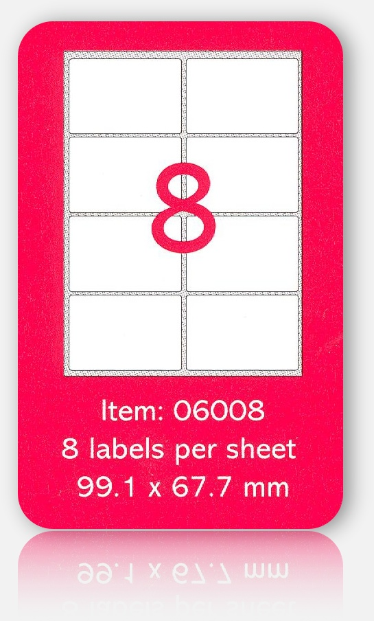 99 1 x 67 7 mm label template - 100 a4 sheets of 99 x 67mm self adhesive labels