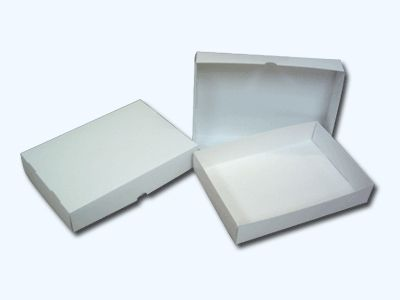 A4 WHITE STATIONERY BOX (305x216x57mm)