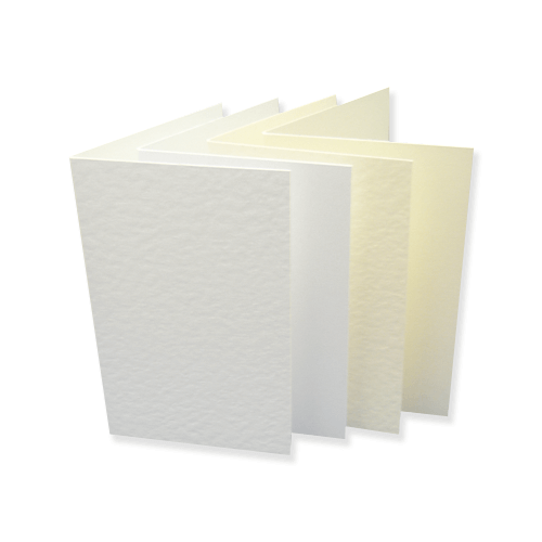 SINGLE FOLD CARD BLANKS - Creased to 128 x 178 mm (133 x 184)