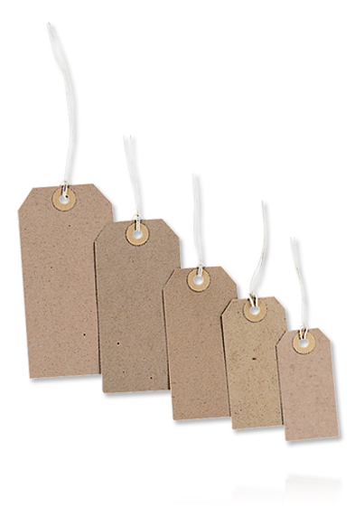 MERIT STRUNG TAGS 120 x 60mm (Pack of 20)