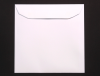 WHITE 220 mm SQUARE ENVELOPE PEEL & SEAL