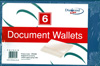 Pack of 6 Document Wallets