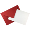 A5 WHITE CARD BLANKS WITH RED ENVELOPES (PACK OF 10)