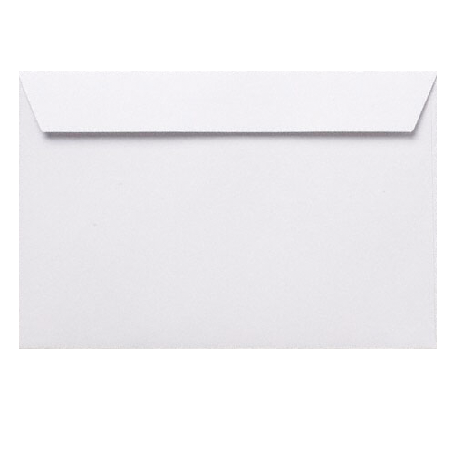 94 X 124MM WHITE WALLET PEEL AND SEAL ENVELOPES (100GSM)