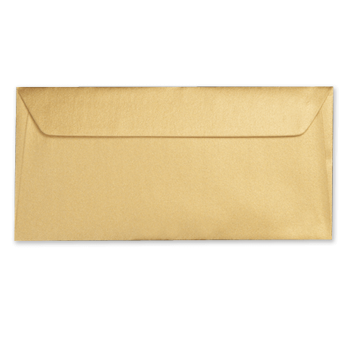 DL METALLIC GOLD PEEL AND SEAL ENVELOPES