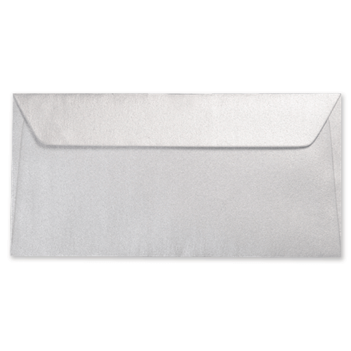 DL METALLIC SILVER PEEL AND SEAL ENVELOPES