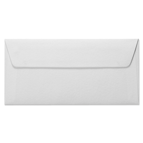 DL WHITE HAMMERED PEEL AND SEAL ENVELOPES