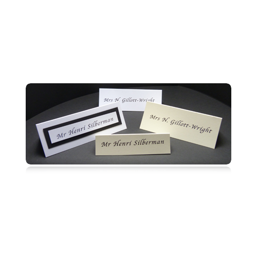 WEDDING PLACE CARDS Creased to 45 x 90 mm (300gsm)