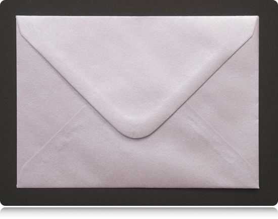 Our pearlescent coloured envelopes are very popular with wedding stationers