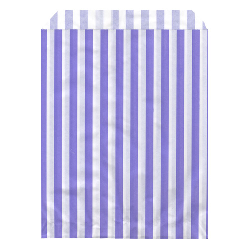 "100 CANDY STRIPE PAPER BAGS Size 7"" x 9"" inch"