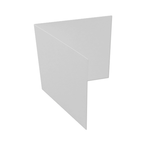 155mm square (145 x 145 mm) Peregrina Majestic Pearlescent Marble White 290 gsm Single Fold Card Blanks
