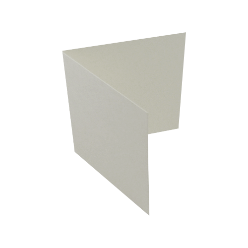 155mm square (145 x 145 mm) Peregrina Majestic Pearlescent Milk 290 gsm Single Fold Card Blanks