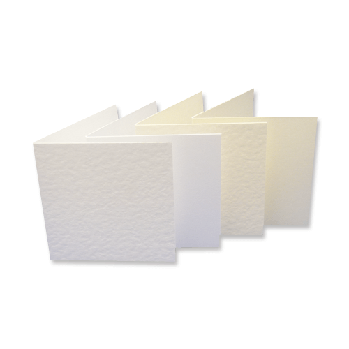 SINGLE FOLD CARD BLANKS - Creased to 125 x 125 mm (SQUARE)