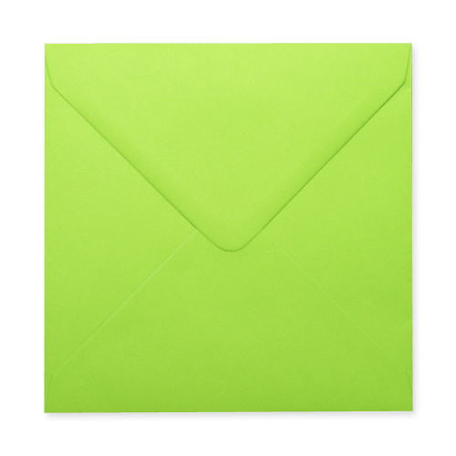 LIME GREEN 155mm SQUARE ENVELOPES (NEW SHADE)