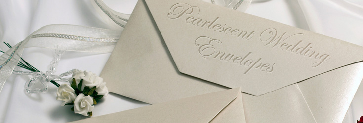 Pearlescent Wedding Envelopes